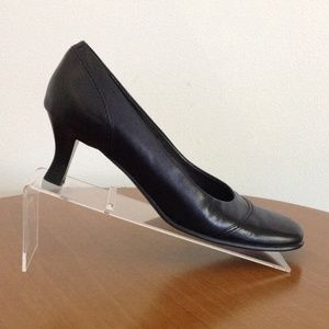 Franco Sarto Womens Heels Black Leather Size 8M